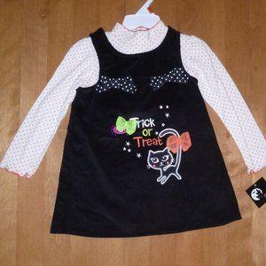 TRICK Or TREAT Halloween Dress Jumper Shirt  NWT